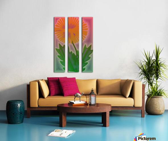 Abstract Dandelion Split Canvas print