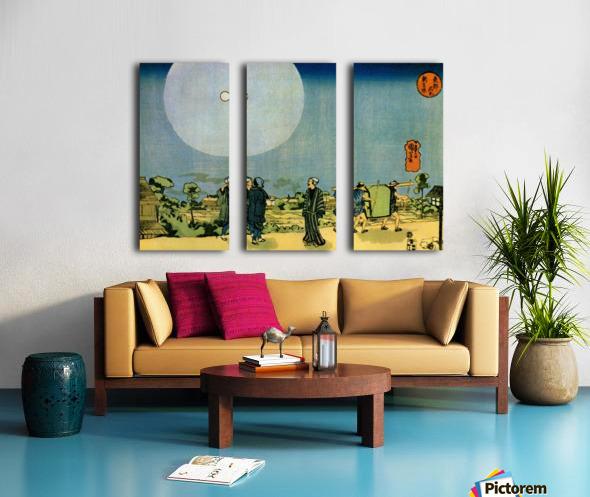 Moonlight Split Canvas print