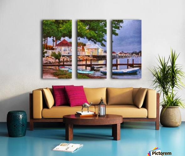 The Pier On Bridge Street Split Canvas print