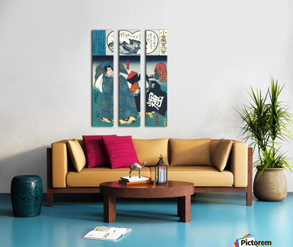 Actors with their faces painted Split Canvas print