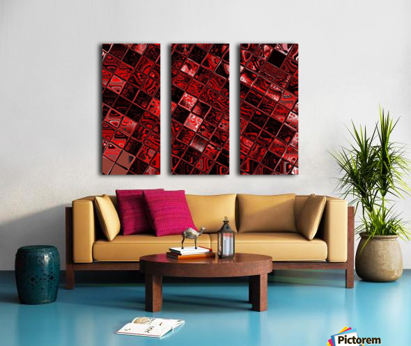 Red Glass Tiles 3 Split Canvas print