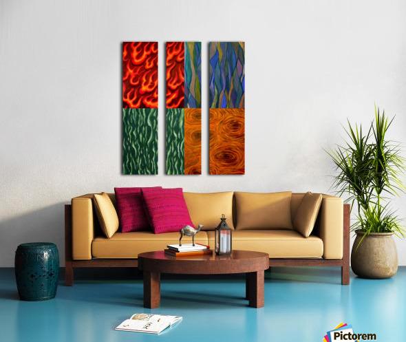4 elements A Split Canvas print