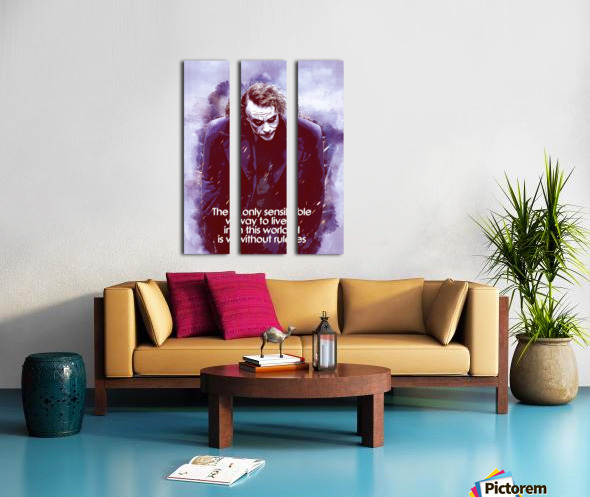 The only sensible way to live in this world is without rules Split Canvas print