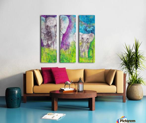 Josephine & Lily Split Canvas print