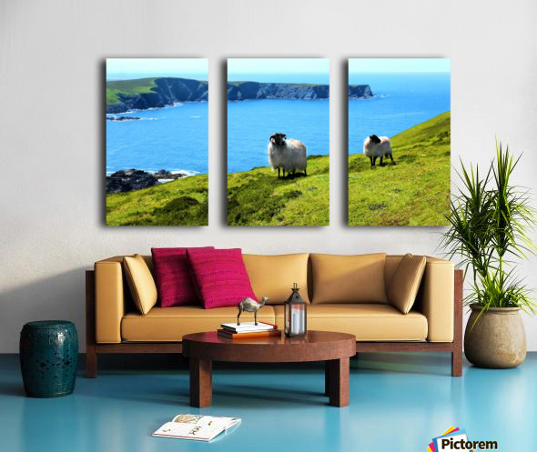 Home with a View Split Canvas print