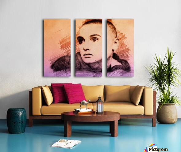 Sinéad OConnor Split Canvas print
