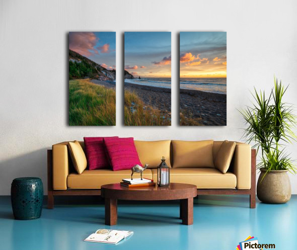 Sunset Relief Split Canvas print