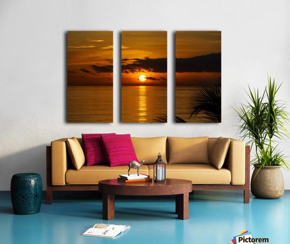 Sunrise at Cayman Kai Split Canvas print