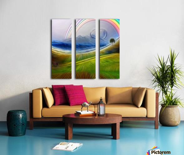 Painterly Peaceful Landscape Split Canvas print