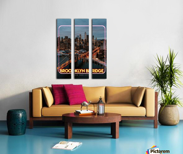 Brooklyn Bridge   New York city Split Canvas print