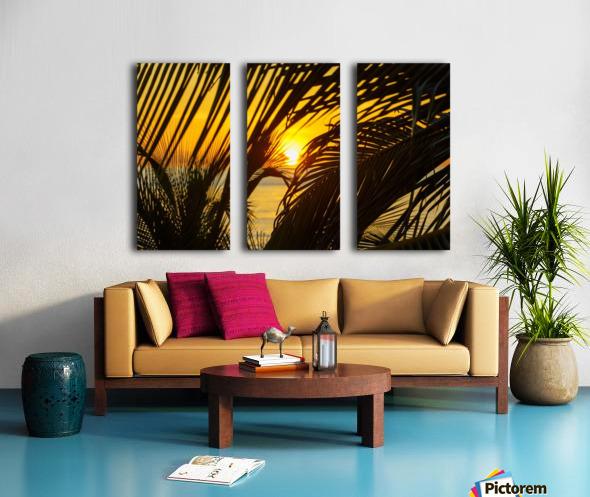 Sunrise through the palms Split Canvas print
