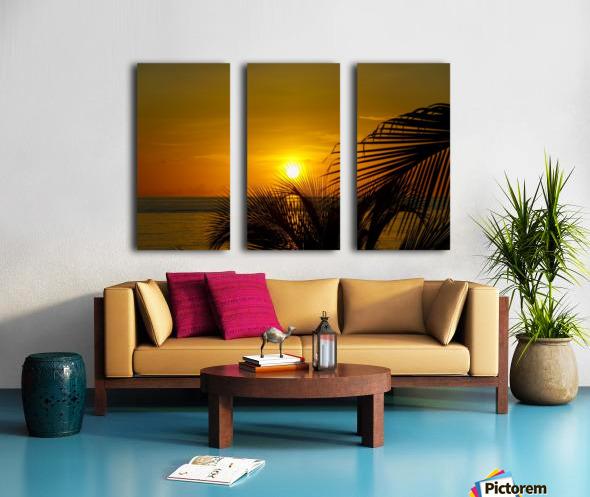 Sunrise at the palm tips Split Canvas print
