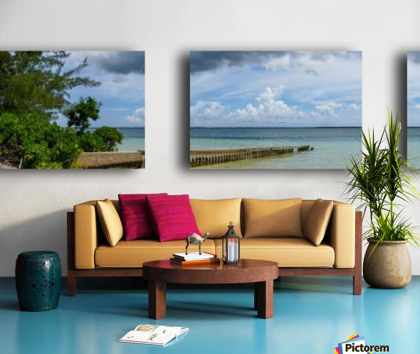 View of Georgetown from Starfish Point in Grand Cayman 2 Split Canvas print
