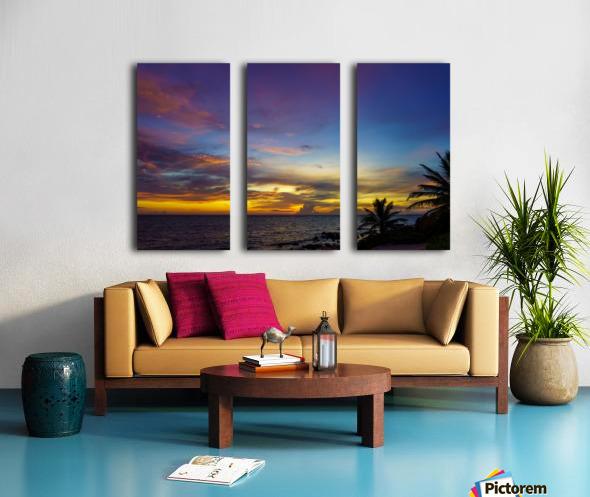 Colorful Caribbean Sky at Grand Cayman Split Canvas print