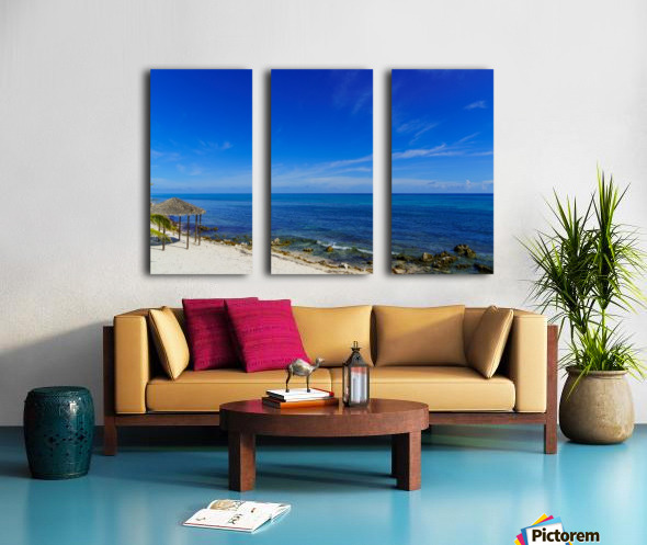 Caribbean Blues at Grand Cayman Split Canvas print