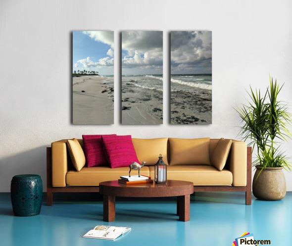 Eleuthera Deserted Beach Split Canvas print
