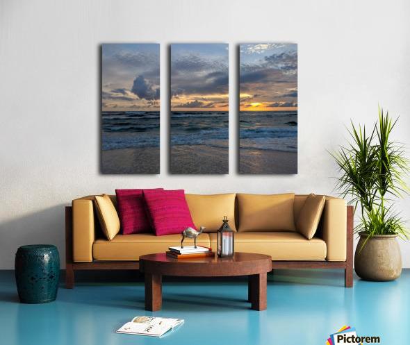 Eleuthera Waves Split Canvas print