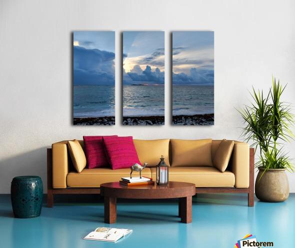 Eleuthera Sun Ray 2 Split Canvas print