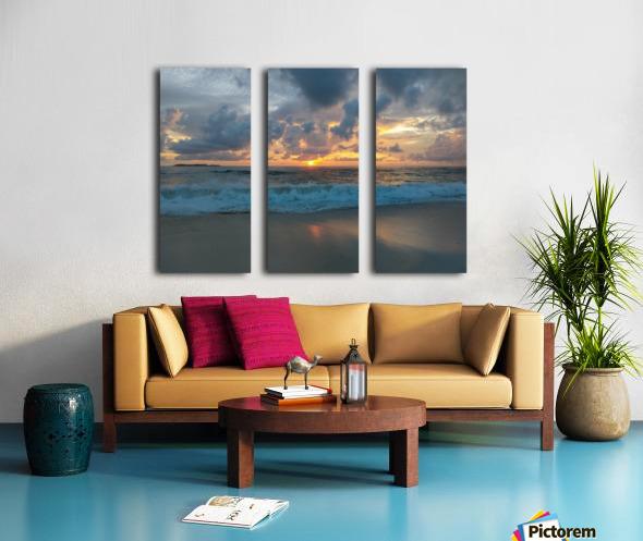 Eleuthera Morning on the beach Split Canvas print