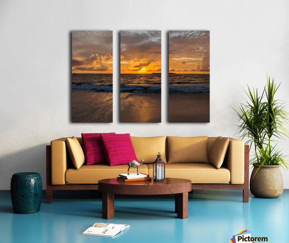 Eleuthera Golden Morning Split Canvas print
