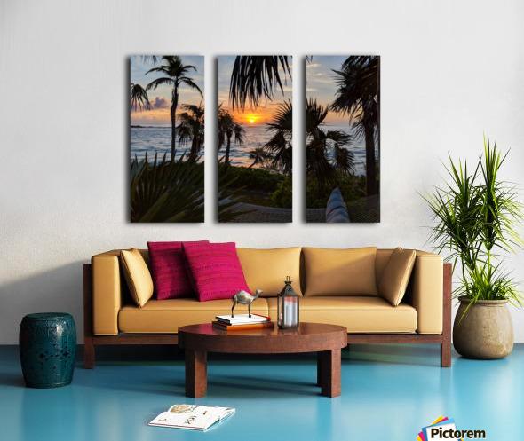Eleuthera Sunrise on the Hammock Split Canvas print