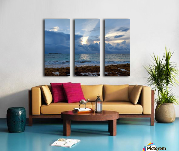 Eleuthera Sun ray Split Canvas print