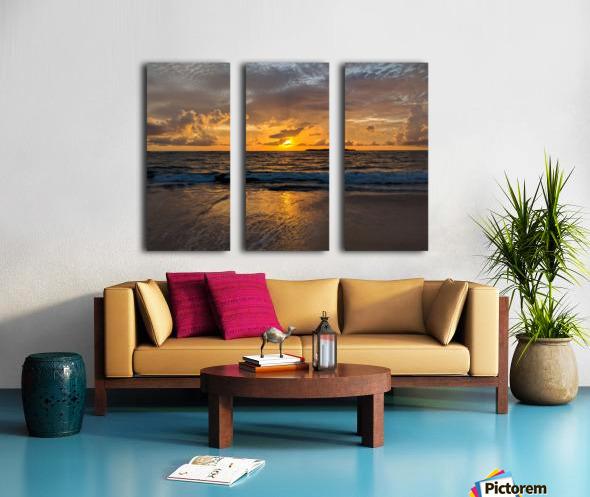 Eleuthera Sunrise Split Canvas print