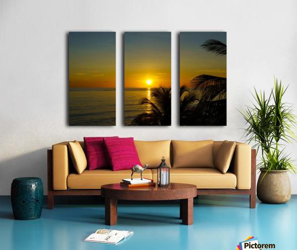 Caribbean Sunrise Split Canvas print