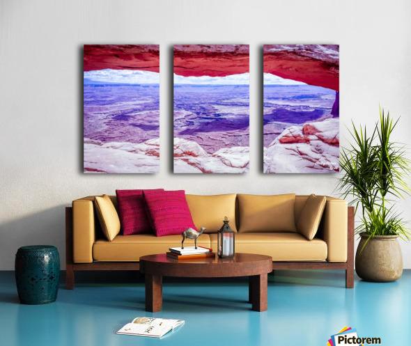 Mesa Arch Canyonlands Split Canvas print