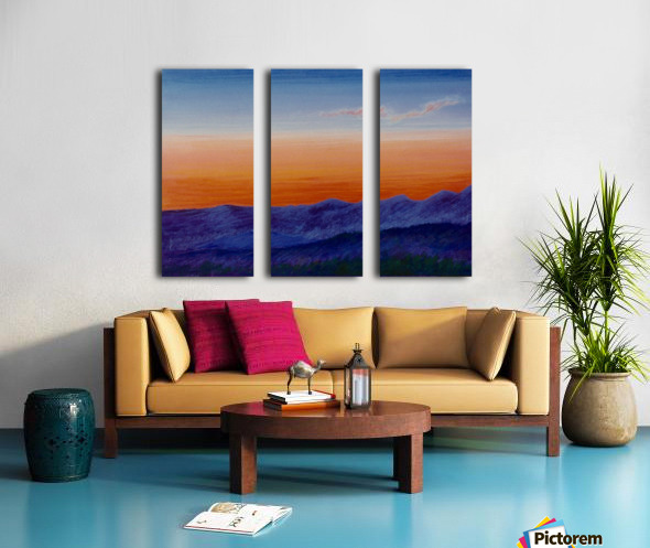 Sunset Split Canvas print