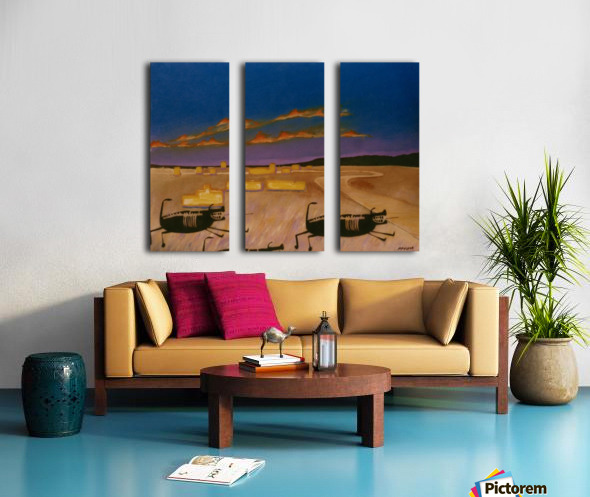 Ridgecrest Dog Split Canvas print