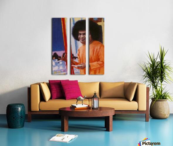 Sathya Sai Baba Split Canvas print