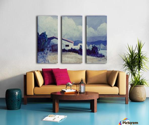 Prairie House Split Canvas print