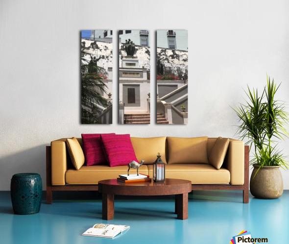 A Street Side In Puerto Rico Series: 1 Split Canvas print
