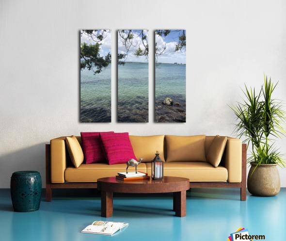A Street Side in Puerto Rico Series: 3 Split Canvas print