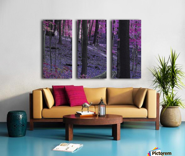 Purple Forest Split Canvas print