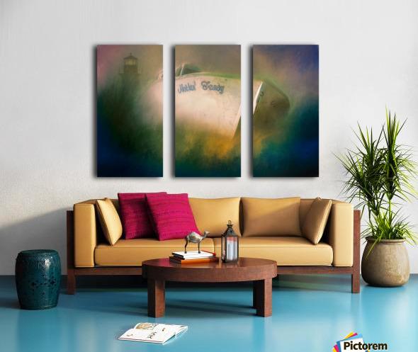 Nothin Fancy Split Canvas print
