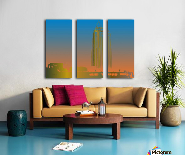 Abstract Skyscraper 1 Split Canvas print