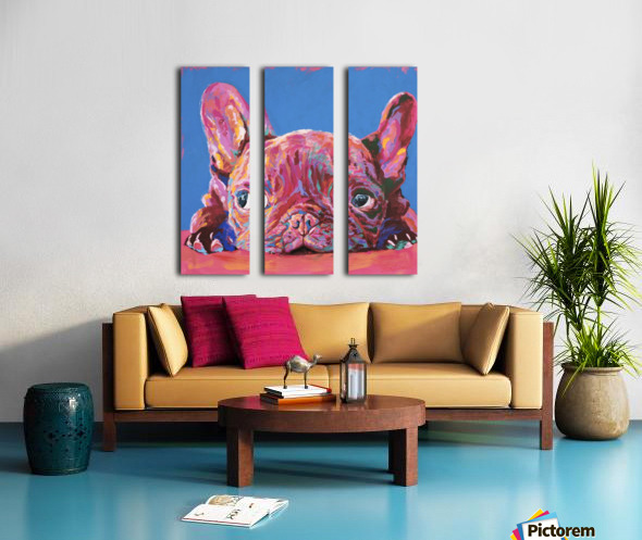 French Bulldog Split Canvas print