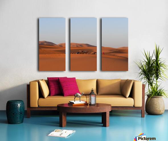 Merzouga sunrise Split Canvas print