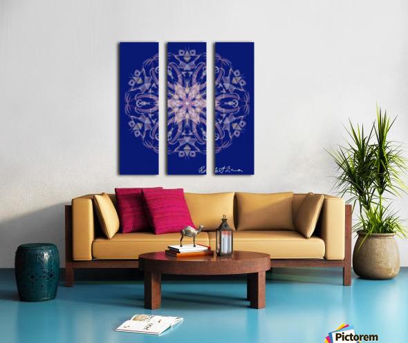 Limited Edition - Blue Graphic Art Healing Mandala 1005 Split Canvas print