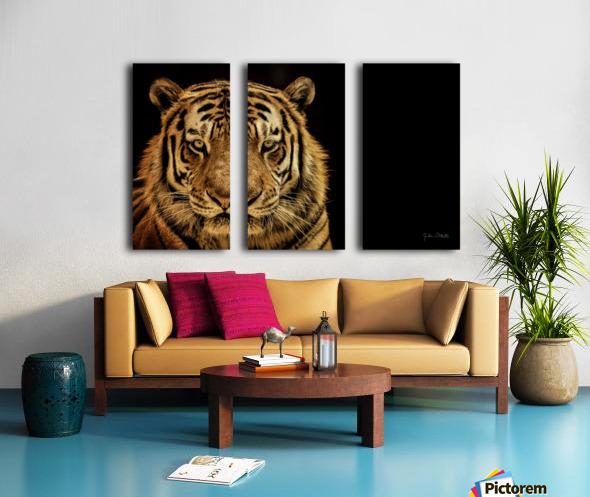 Massive Siberian Amur Tiger  Split Canvas print