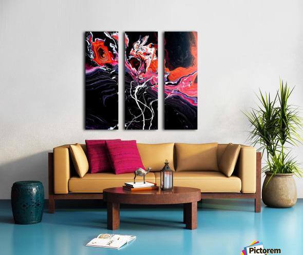 Hell garden Split Canvas print