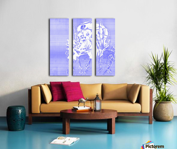 Jacle blue print Split Canvas print