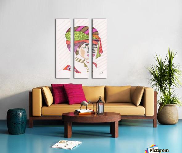 A Woman of a Different Stripe Split Canvas print