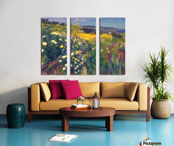 Spring daisies Split Canvas print
