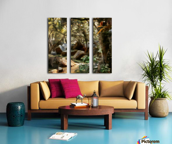 Into the Woods Split Canvas print