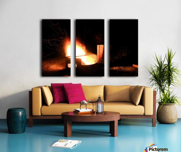 Ask the Campfire Split Canvas print