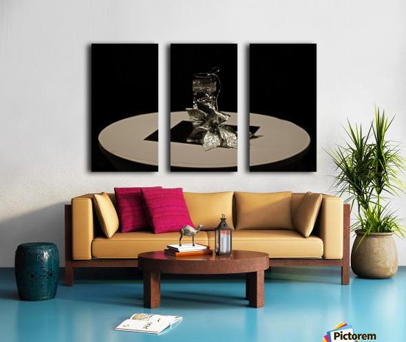 Crystalline Floret Split Canvas print