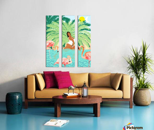 Water Yoga Split Canvas print